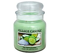 Village Candle Candle Sea Salt Cucumber 16 Ounce - Each