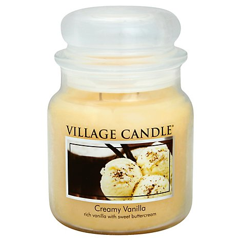 Village Candle Candle Creamy Vanilla 16 Ounce - Each