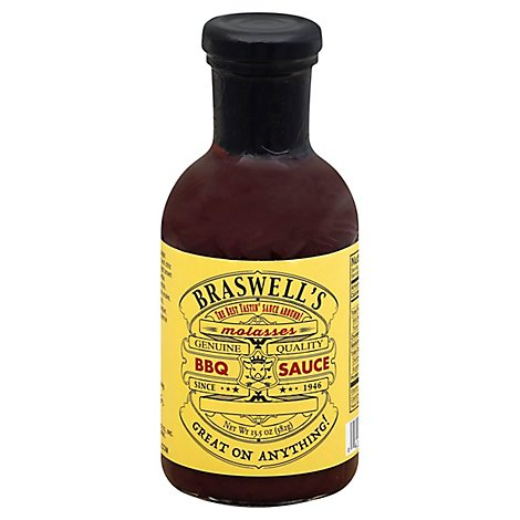 Braswells BBQ Sauce Molasses - 13.5 Oz