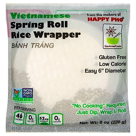 Star Anise Foods Spring Roll Wrapper White Rice Vietnamese - 8 Oz