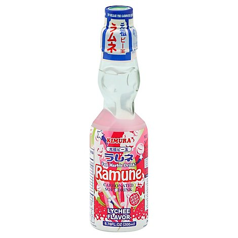 Kimura Ramune Soft Drink Carbonated Lychee - 6.76 Fl. Oz.
