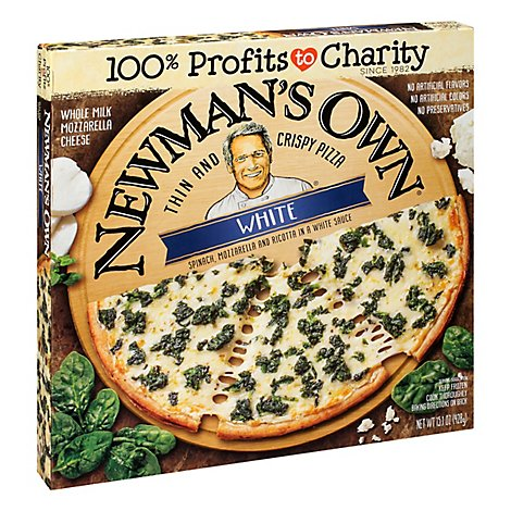 Newmans Own Pizza Thin And Crispy White Frozen - 15.1 Oz
