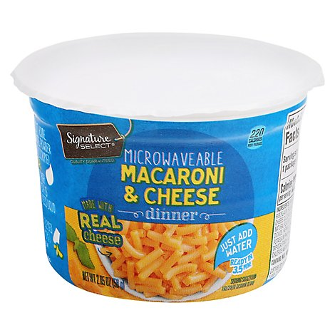 Signature SELECT Macaroni & Cheese Dinner Microwavable - 2.05 Oz