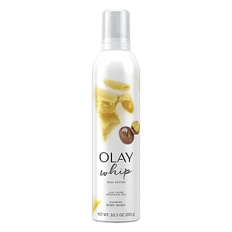 Olay Body Wash Foaming Whip Shea Butter - 10.3 Oz