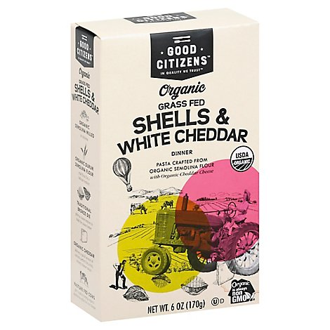 Good Citi Dinner Shells Wht Chdr Or - 6 Oz