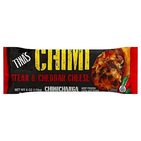Tinas Steak & Cheddar Cheese Chimi - 6 Oz