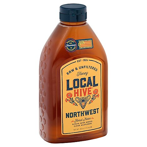 Local Hive Honey Raw & Unfiltered Northwest - 40 Oz