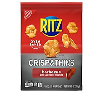 RITZ Potato & Wheat Chips Crisp & Thins Oven Baked Not Fried Barbecue - 7.1 Oz