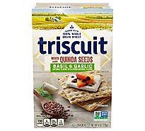Triscuit Crackers Basil & Garlic With Quinoa Seeds - 8 Oz