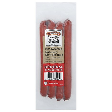 Old Wisconsin Original Twisted Link Snack Stick - 3 Oz