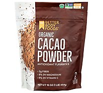 Betterbod Powder Cacao Org - 16 Oz