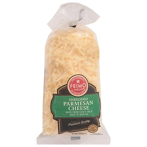 Primo Taglio Cheese Parmesan Shredded Aged 10 Months - 8 Oz
