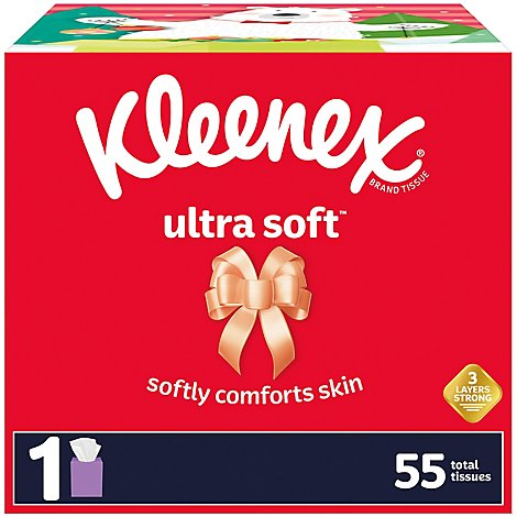 Kleenex Ultra Soft Facial Tissue Holiday Box - 55 Count