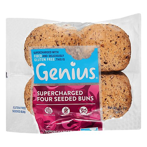 Rolls Suprcharged Four Seed Gluten Free - 11.3 Oz