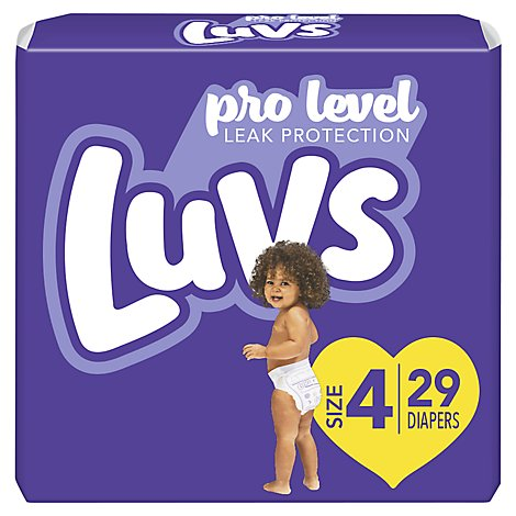 Luvs Diapers Pro Level Leak Protection Size 4 - 29 Count