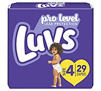 Luvs Diapers Jumbo Pack Size 4 - 29 Count
