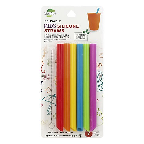Silicone Kids Straw - Each
