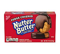 Nutter Butter Sandwich Cookies Peanut Butter Fudge Covered - 7.9 Oz