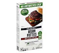 Open Nature Bison Hamburger Patties - 16 Oz.