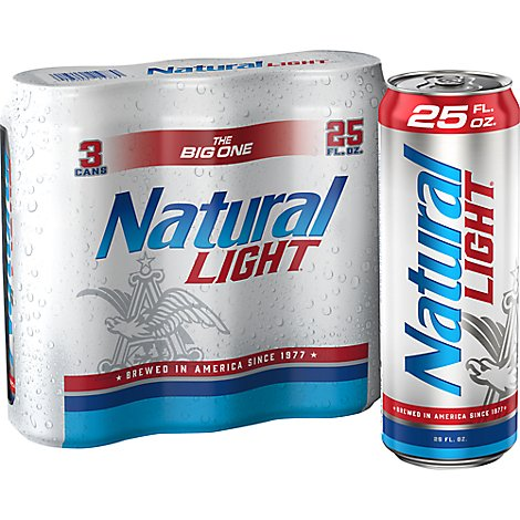 Natural Light In Cans - 3-25 Fl. Oz.