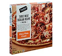 Signature SELECT Pizza Thin Crust 3 Meat Sicilian Frozen - 15.1 Oz