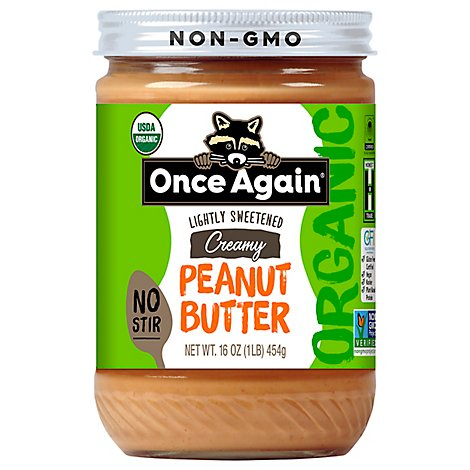 Once Again Peanut Butter American Classic Creamy No Stir - 16 Oz