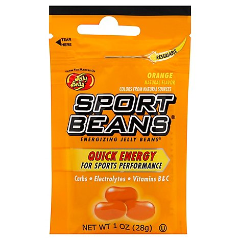 Jelly Belly Jelly Beans Energizing Sports Beans Orange - 1 Oz