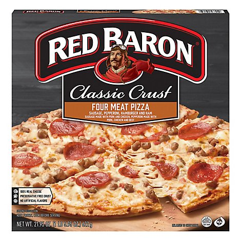 Red Baron Pizza Classic Crust Four Meat - 21.95 Oz