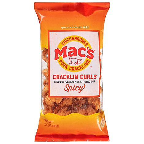 Macs Crackling Pork Spicy - 4 Oz