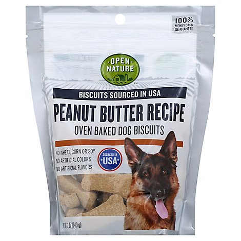 Open Nature Dog Biscuits Peanut Butter - 12 Oz