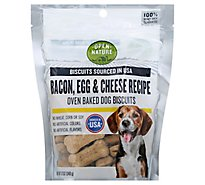 Open Nature Dog Biscuits Bacon Egg & Cheese - 12 Oz