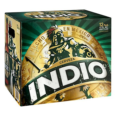 Indio Lager Beer - 12-12 Fl. Oz.