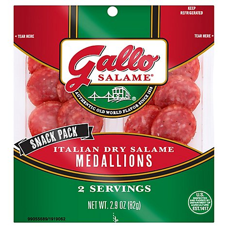 Gallo Salame Italian Dry Snack Medallions - 2.9 Oz