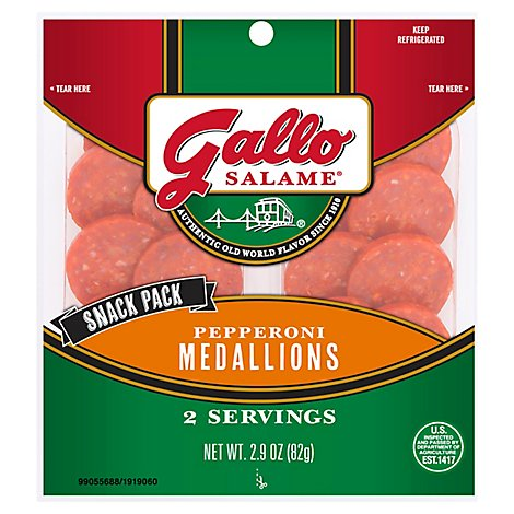 Gallo Salame Pepperoni Snack Medallions - 2.9 Oz