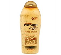 OGX Scrub & Wash Smoothing + Coconut Coffee - 19.5 Fl. Oz.
