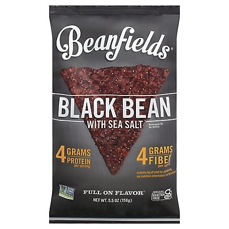 Beanfields Bean & Rice Chips Black Bean With Sea Salt - 5.5 Oz