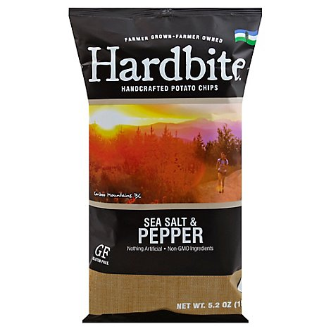 Hardbite Potato Chips Salt & Pepper - 5.2 Oz
