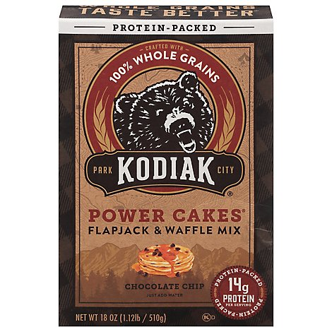 Kodiak Mix Flpjck Pwr Choc Chip - 18 Oz