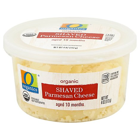 O Organics Organic Cheese Parmesan Shaved Aged 10 Months - 4 Oz
