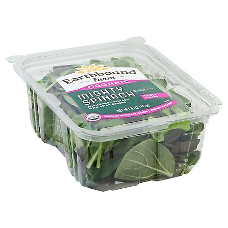Earthbound Farm Organic Spinach Mighty Tasty Fresh - 5 Oz