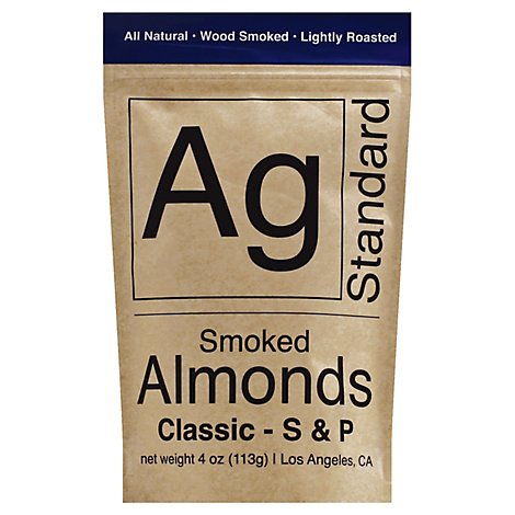 Agstandard Classic S&P Smoked Almonds - 4 Oz