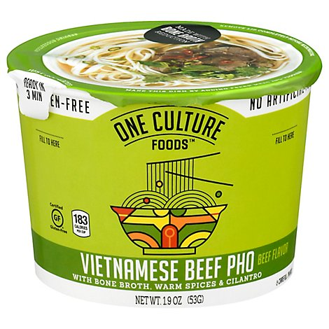 One Culture Foods Vietnamese Beef Pho - 1.88 Oz