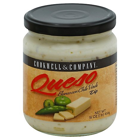 Cookwell & Company Queso Blanco Con Chile Verde - 16 Oz