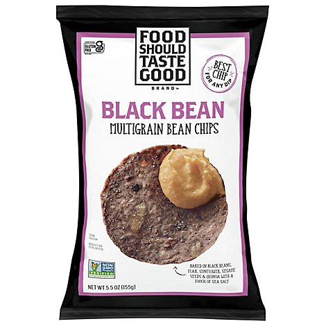 Food Should Taste Good Bean Chips Black Bean Multigrain - 5.5 Oz