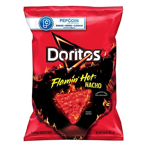 Doritos Tortilla Chips Flamin Hot Nacho - 3.12 Oz
