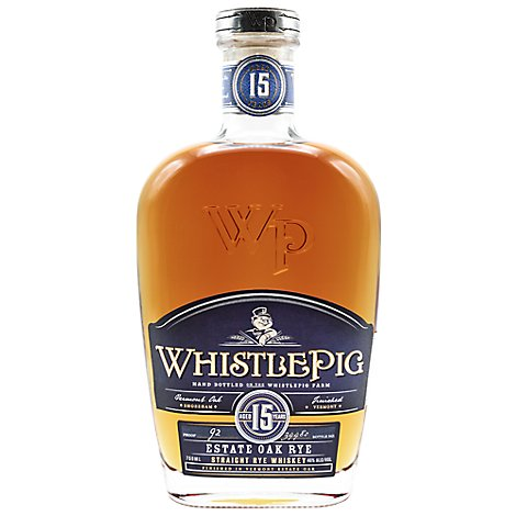 Whistlepig Estate Oak Rye Whiskey 15yr - 750 Ml