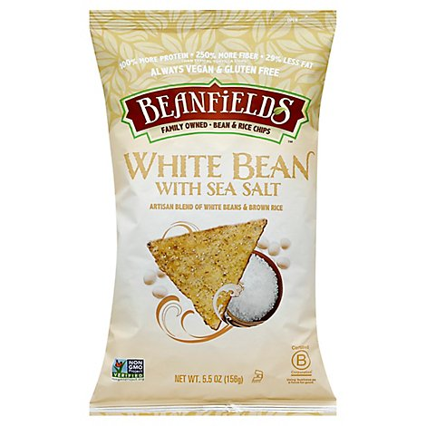 BEANFIELDS Bean & Rice Chips White Bean With Sea Salt - 5.5 Oz
