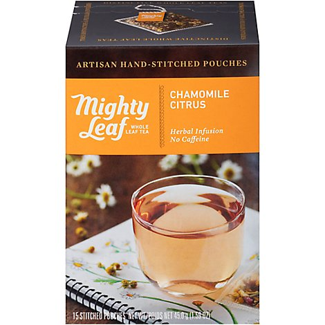 Mighty Leaf Chamomile Citrus Stitched Tea - 15 Count