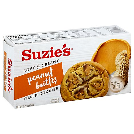 Suzies Cookies Filled Soft & Creamy Peanut Butter - 5.29 Oz