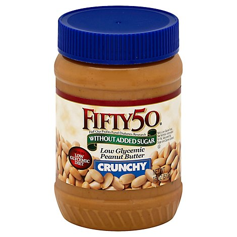 Fifty50 Peanut Butter Low Glycemic Crunchy - 18 Oz